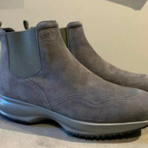 Hogan Suede Sneaker Boot - Size 41  As New